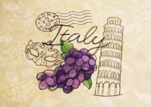 Travel embroidery Italy