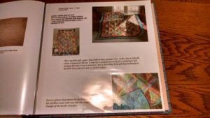 quilting scrapbook page
