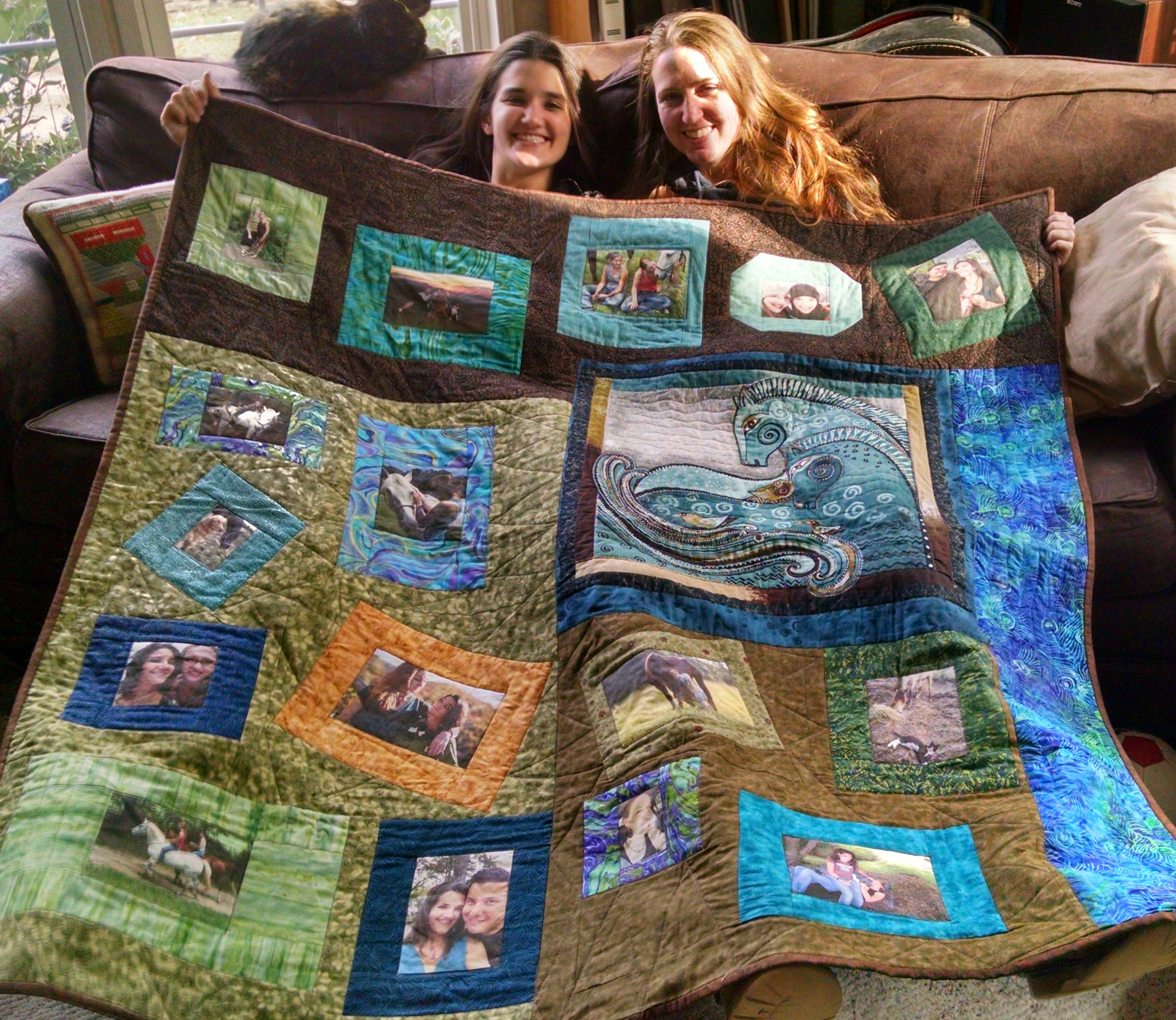 custom personalized photo transfer memory quilts. Black Bedroom Furniture Sets. Home Design Ideas